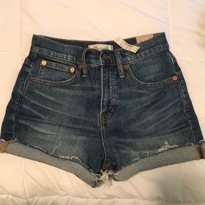 Madewell High Rise Denim Shorts